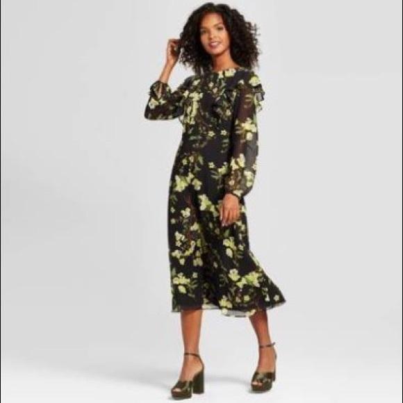 c5df6460eaaf Who What Wear Dresses | Belladonna Ruffle Midi Skirt | Poshmark